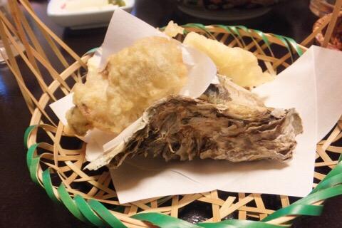 岩牡蠣の天ぷら