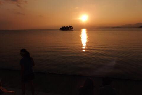 夏の旅行記その3:松江の町と宍道湖の夕焼け