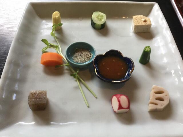 ステーキの店徳庵 季節野菜の前菜