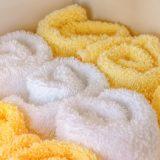 ふわふわの手触りのタオルを新調。日常使いのものにお金をかけると生活の満足度が上がります。