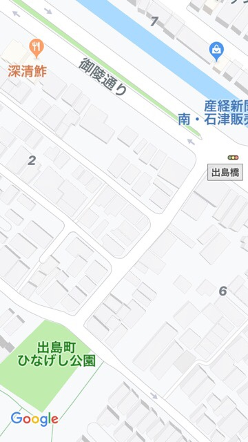 深清鮓近くの公園地図