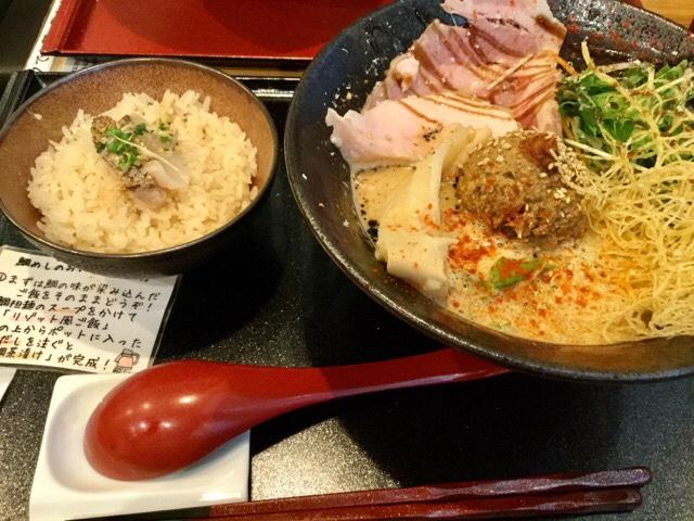 抱きしめ鯛 ランチセット鯛担麺と鯛めし