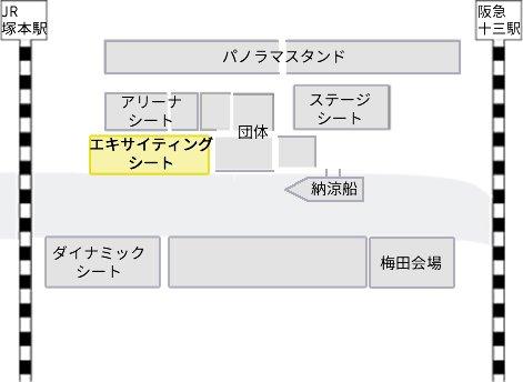 なにわ淀川花火大会 会場図