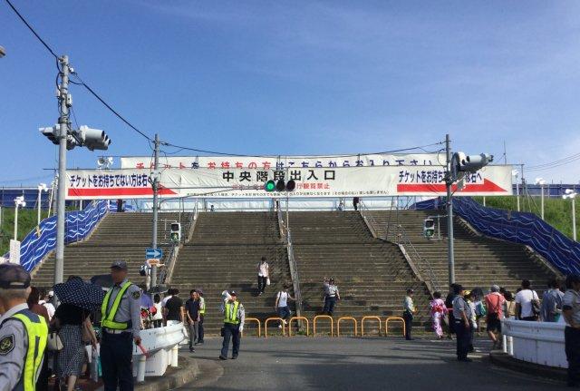 なにわ淀川花火大会入り口大階段