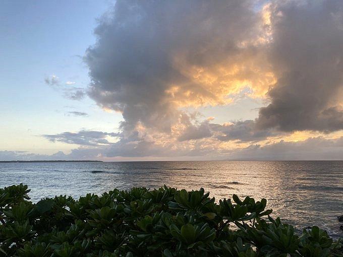観音崎灯台から見た夕焼け