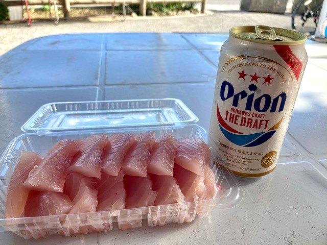 マルハ鮮魚のマグロとオリオンビール