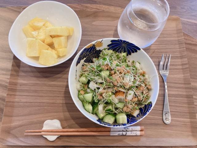 ブロスプちくきゅう納豆丼
